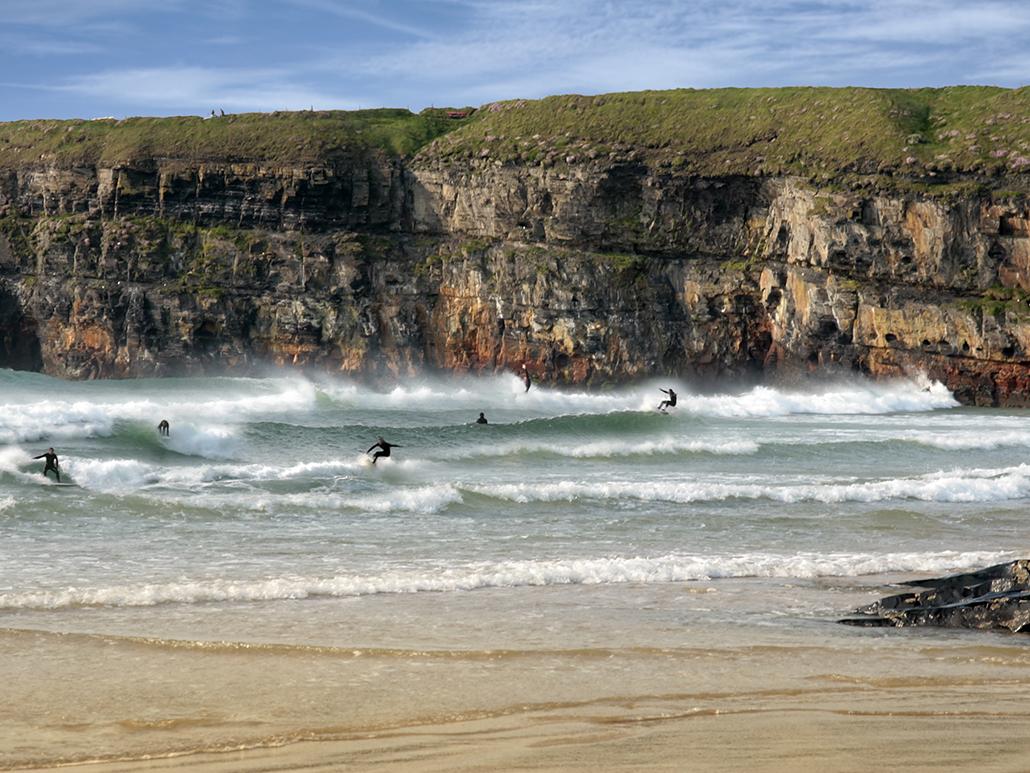 Surfers at Ballybunion
