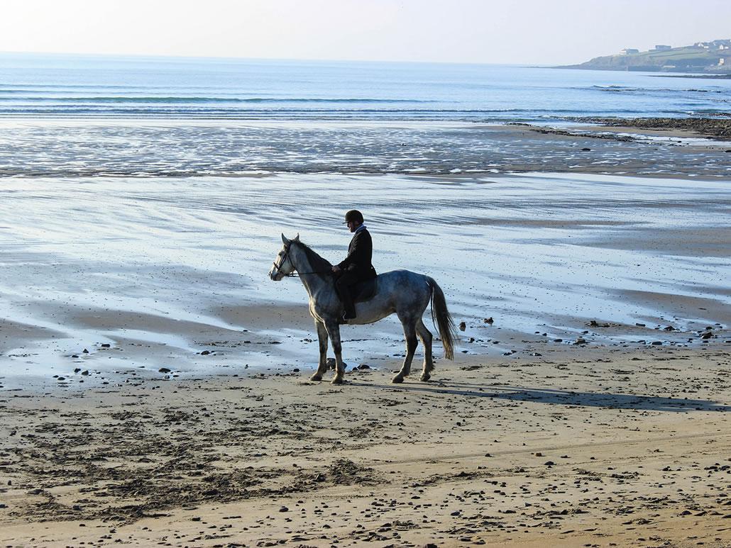 Ballyheigue Beach Horse Rider